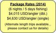 Package Rates (2014)