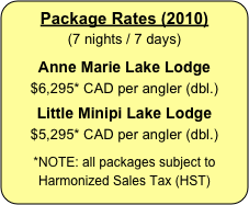 Package Rates (2010)