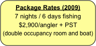Package Rates (2009)